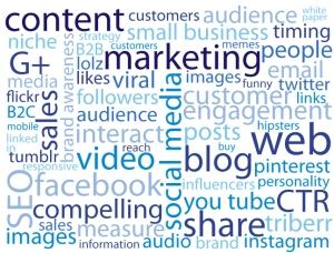 Social media word cloud - Jane McKay Communications
