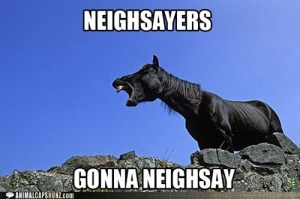 Ignore the neighsayers